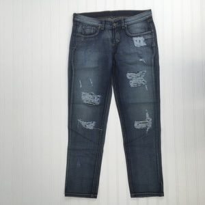 CARMAR Distressed Baggy Fit Jeans Size 25 nwot